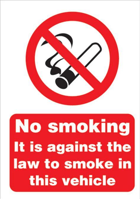 no smoking sign for vehicles stewart superior sign no smoking vehicle a5 self adhesive