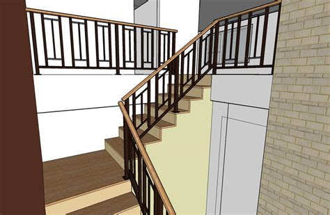 Banister On Stairs Mid Century Modern Sixties Makeover Live Work Play