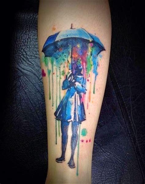 tattoo girl umbrella 50 beautiful watercolor tattoo designs and ideas that will