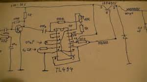 schematic switching regulator audio modulation with tl494