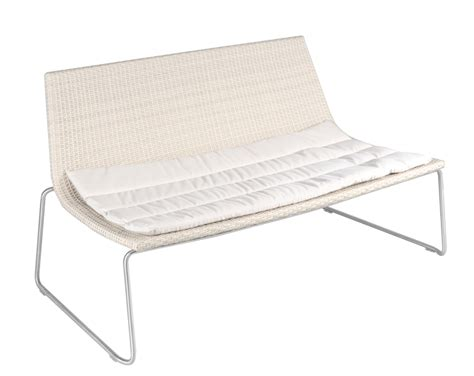 white bench seat white synthetic wicker outdoor seat bench in west