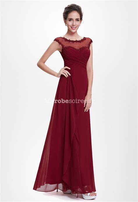 Robe Longue Bordeaux Demoiselle D Honneur - robe de c 233 r 233 monie en bordeaux longue en mousseline 8619