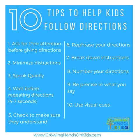 Directions To Home by Tips For Following Directions In The Classroom