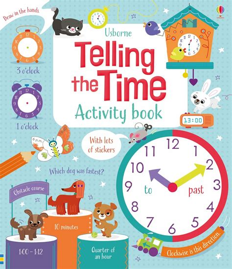 the outside consultant books telling the time activity book at usborne children s books