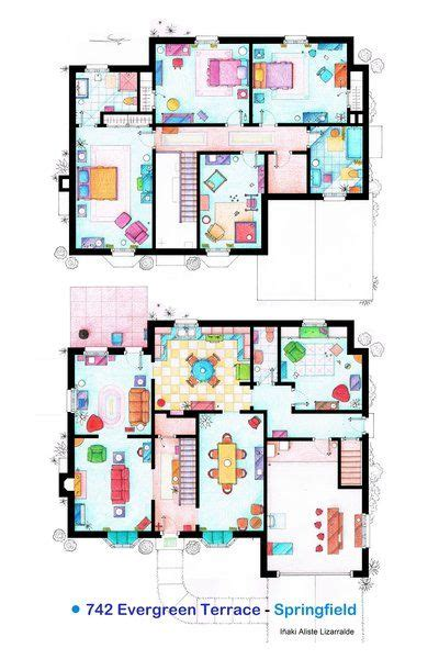17 Best Images About Famous Floorplans On Pinterest The Simpsons House Floor Plan