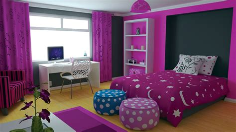 Teen Bedroom Design Ideas With Purple Color And Curtains | home decor trends 2017 purple teen room