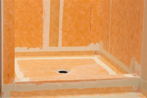 bathroom membrane system schluter 174 kerdi shower kit kerdi shower kit shower