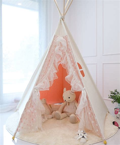 pink lace teepee tent play tent tent play house