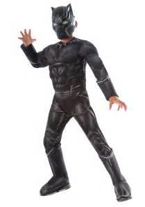 Jaguar Costume Boys Civil War Black Panther Deluxe Costume