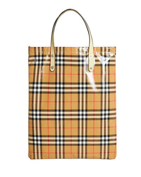 Check Shopper Bag burberry coated vintage check large shopper tote bag