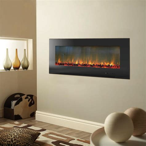 wall mount fireplace cambridge metropolitan 56 in wall mount electic fireplace