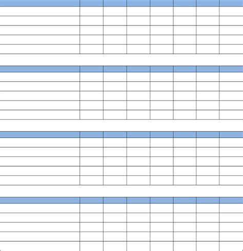 blank weekly chore list chart free