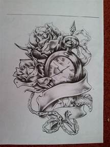 best 25 clock and rose tattoo ideas on pinterest clock