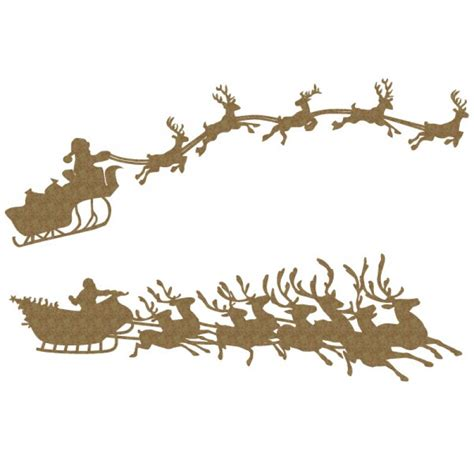 reindeer rubber st santa s sleigh