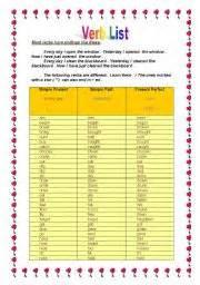 teaching worksheets past participle
