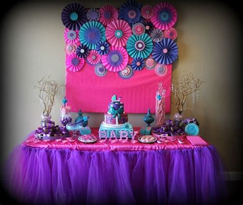 purple and pink decorations pink purple turquoise it s a baby shower ideas
