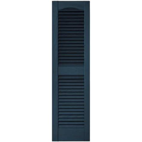 builders edge 12 in x 43 in louvered vinyl exterior