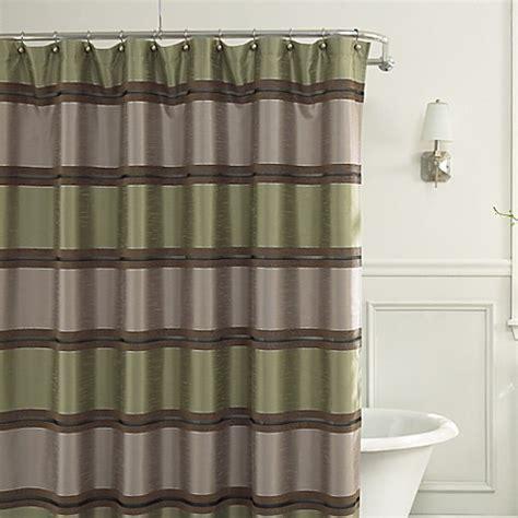 green stripe shower curtain buy jardin stripe 72 inch x 72 inch fabric shower curtain