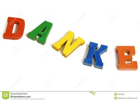 Thank You Letter German danke thank you stock photo image of words thank text