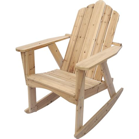 unfinished wood chairs stonegate designs wooden adirondack rocking chair