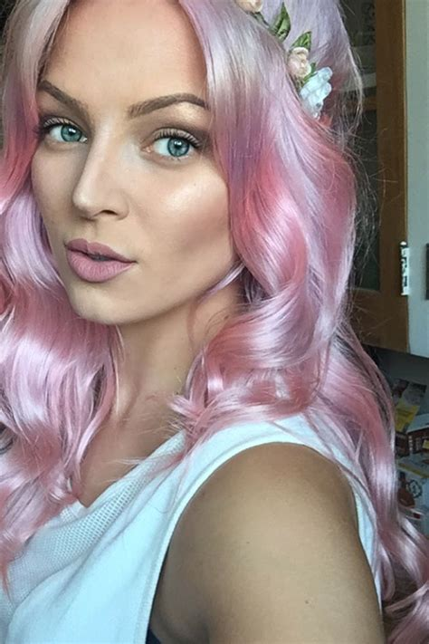 how to get pink color out of hair how to get pastel pink hair using ion color brilliance