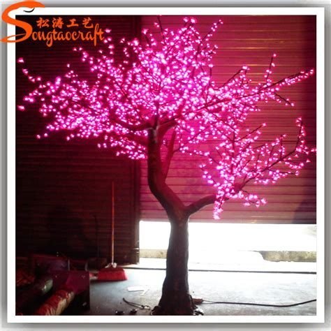 outdoor light up trees factory cheap led light up cherry blossom tree outdoor