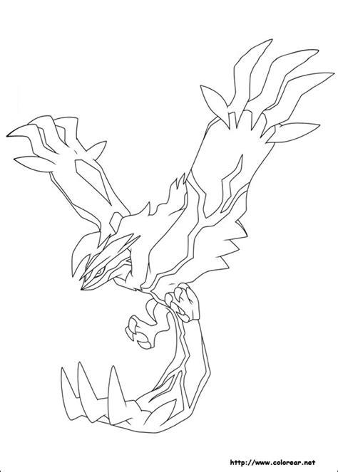 free coloring pages of yveltal dibujos para colorear de pokemon