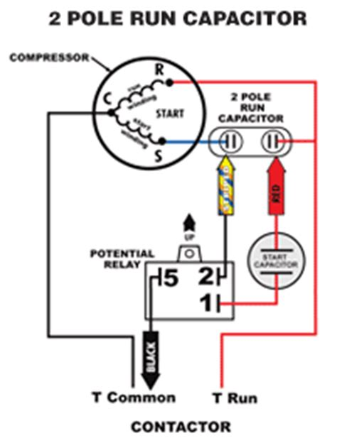 how do i connect a capacitor to a motor 5 2 1 compressor saver 174