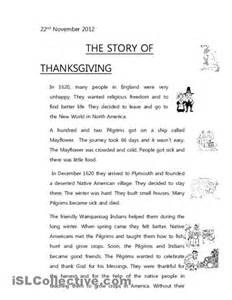 thanksgiving comprehension printables 6 best images of thanksgiving story printable first