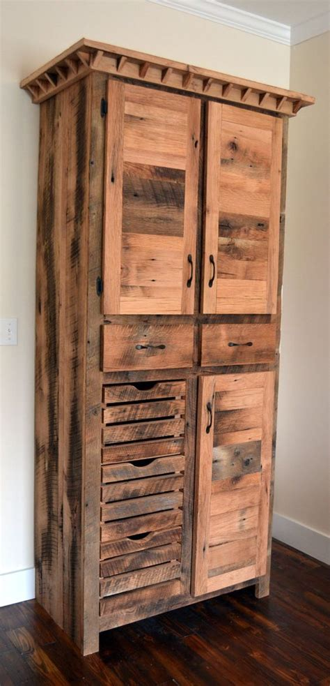 Barnwood Cabinets by Reclaimed Barnwood Pantry Cabinet Diy Home Improvements