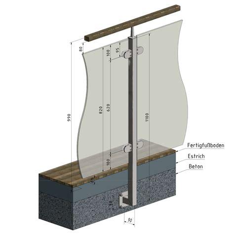 treppengeländer pfosten stahl gel 228 nderpfosten mittelpfosten edelstahl vierkantrohr vgs 2