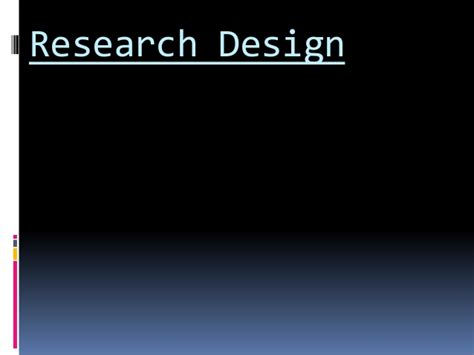 research design powerpoint slides research design ppt