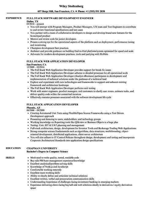 stack resume sles velvet