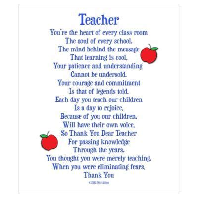 thank you letter for teachers day 25 best ideas about thank you poems on