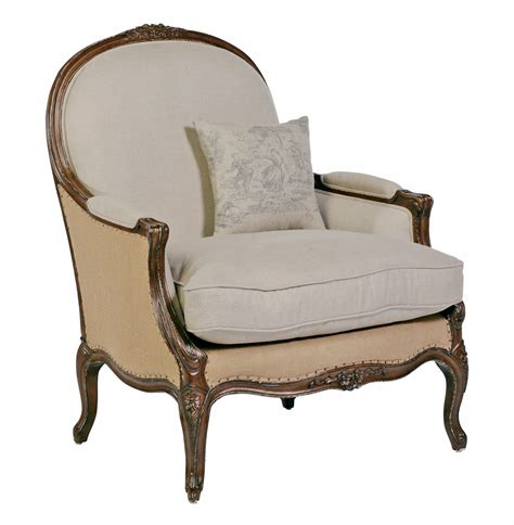 accent chairs oversized country burlap linen bergere accent