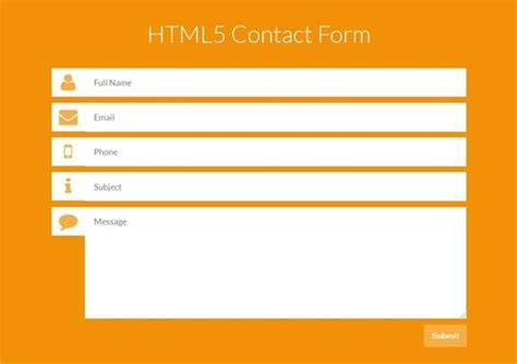html5 contact form template 1000 ideas about html contact form on contact
