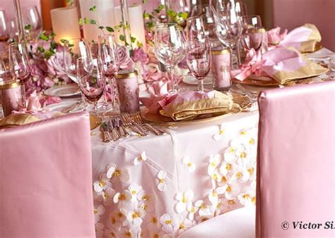 Pink And Gold Table Setting by Pink And Gold Wedding Table Setting Pink Weddings