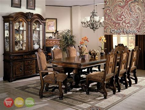 dining room sets with china cabinet neo renaissance formal dining room furniture set with optional china cabinet ebay
