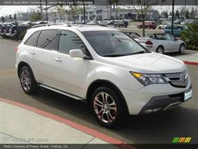 2007 acura mdx technology in aspen white pearl photo no