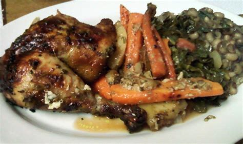 delicious dishes for new year s dinner 2010 s new year s dinner for two roast chicken and root