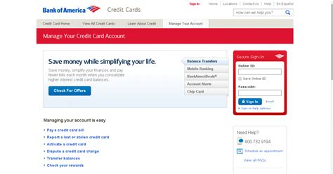 bank of america login in bank of america banking sign in id html