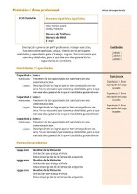 Modelo Curriculum Nuevo Plantillas De Curr 237 Culum Vitae Hacer Curriculum