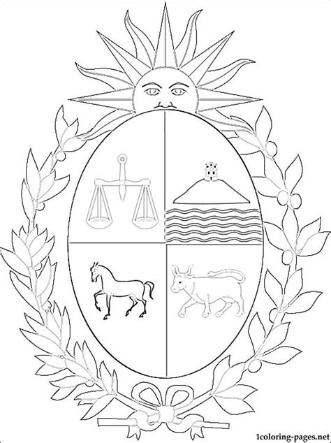 coloring pages for uruguay uruguay coat of arms coloring page coloring pages