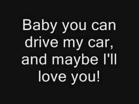 drive my car lyrics the beatles drive my car youtube