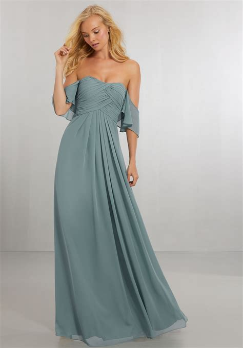 Bridesmaid Dress by Boho Chic Chiffon Bridesmaids Dress With The Shoulder