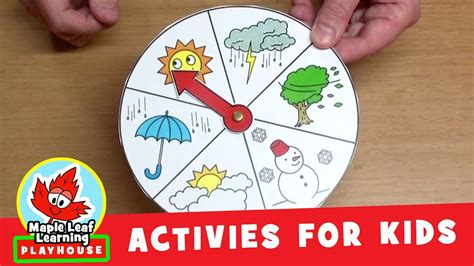 Weather Wheel Activity for Kids   Maple Leaf Learning