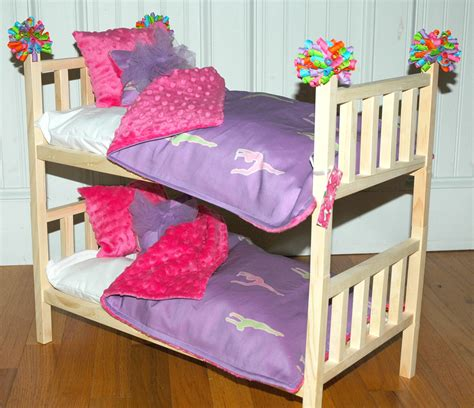 american doll bed doll bunk bed mckenna bunk bed with gymnastics bedding