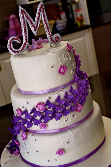 shaded purple butterfly birthday cake maryam issadeen flickr