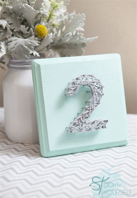 Diy Table Numbers by Diy String Table Numbers For Your Wedding