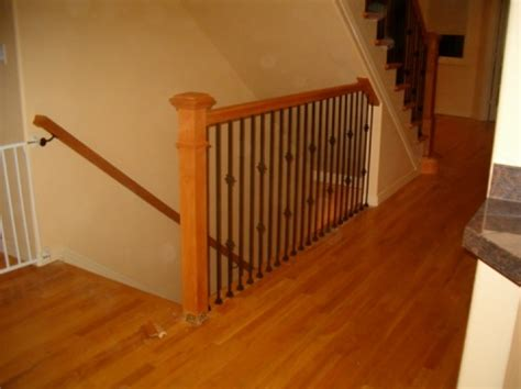 installing a stair banister how to stair rail installing a stair railing a more decor
